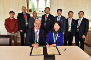 Signing of MOU with KUST and key University of Bradford delegates